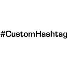 Hashtag yourtext v1